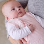Swaddle to Sleep Bag Shell Pink with Mum