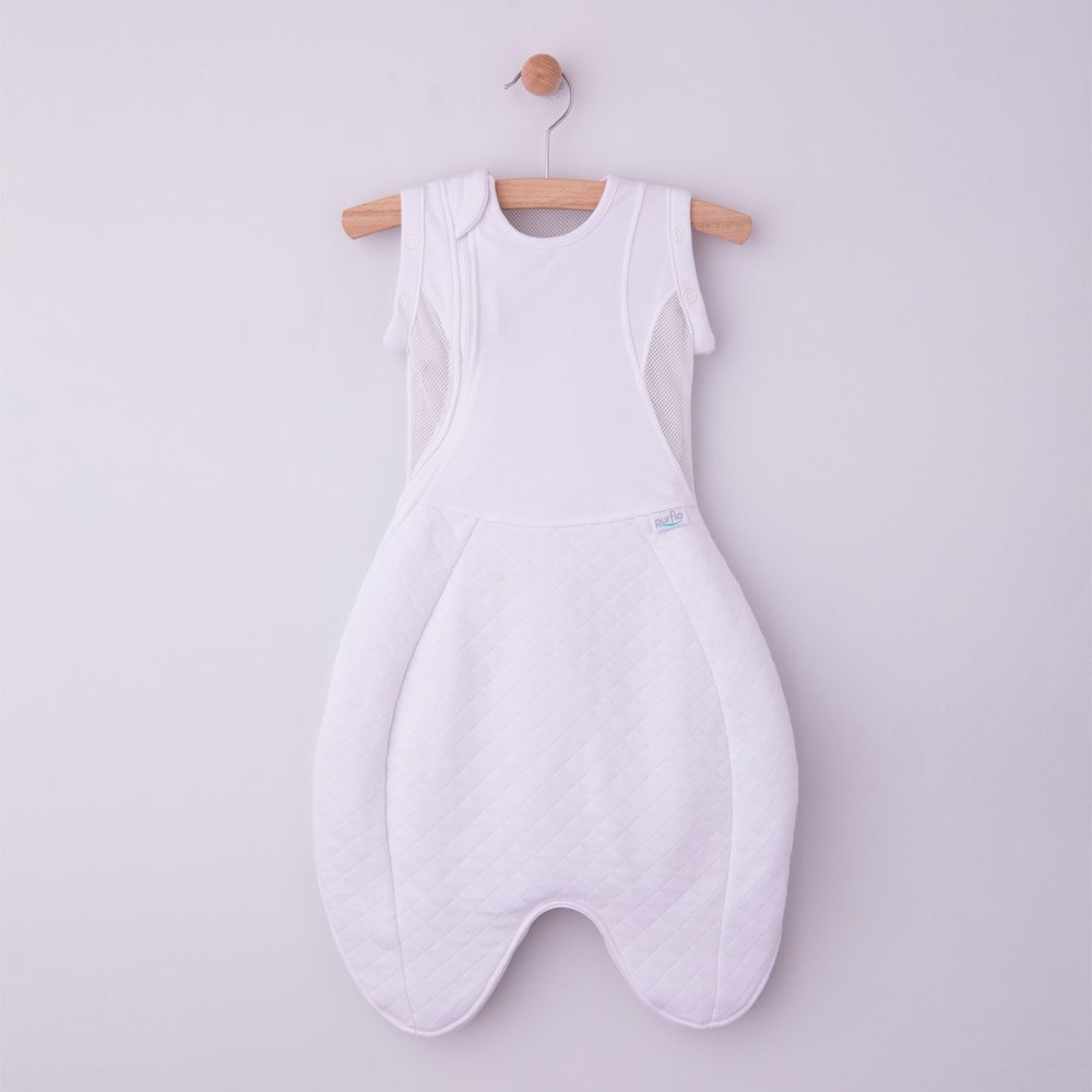 Swaddle to Sleep Bag Soft White