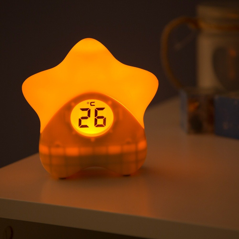 Starlight Room Thermometer turning blue to indicate room is getting too warm