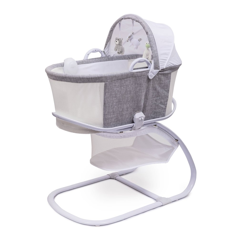 Breathable Bassinet in Marl Grey