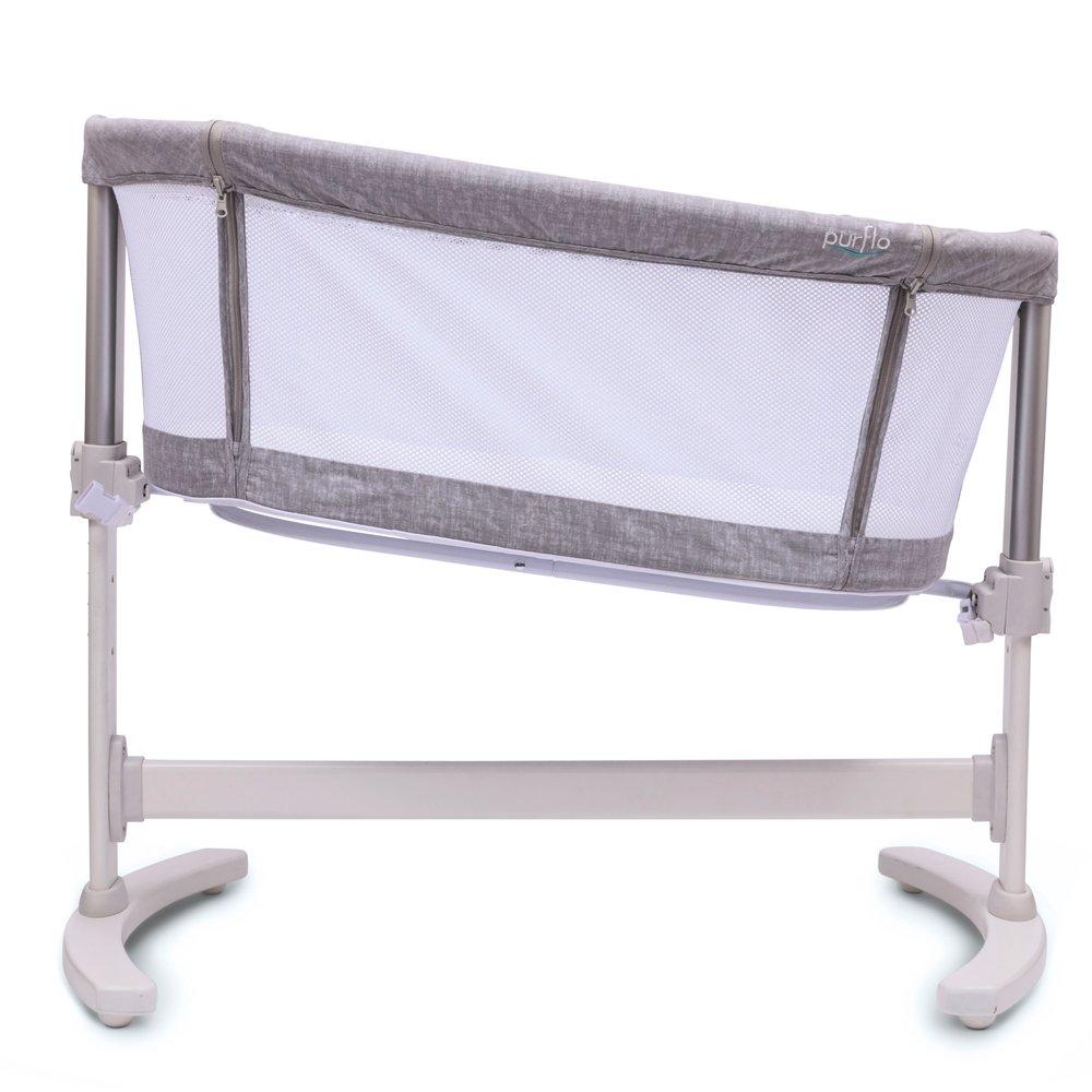 Bedside Crib Marl Grey Tilt