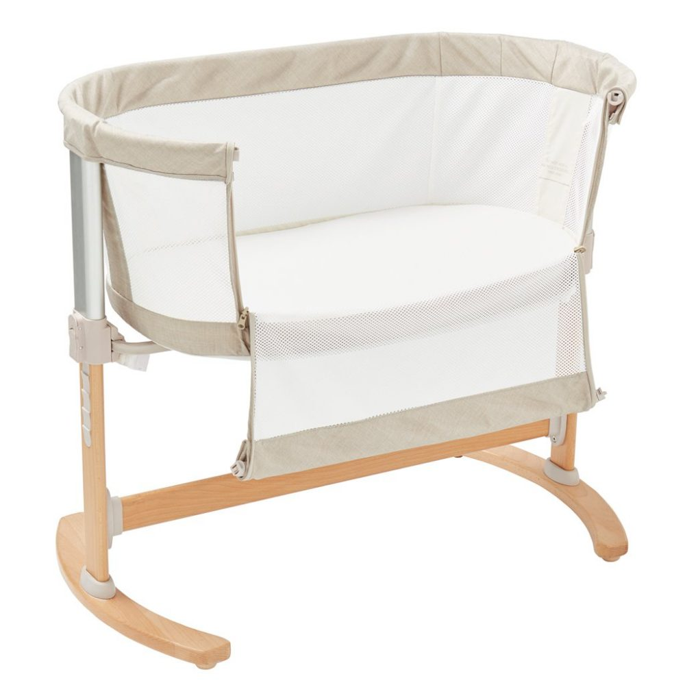 Bedside Crib Natural Open