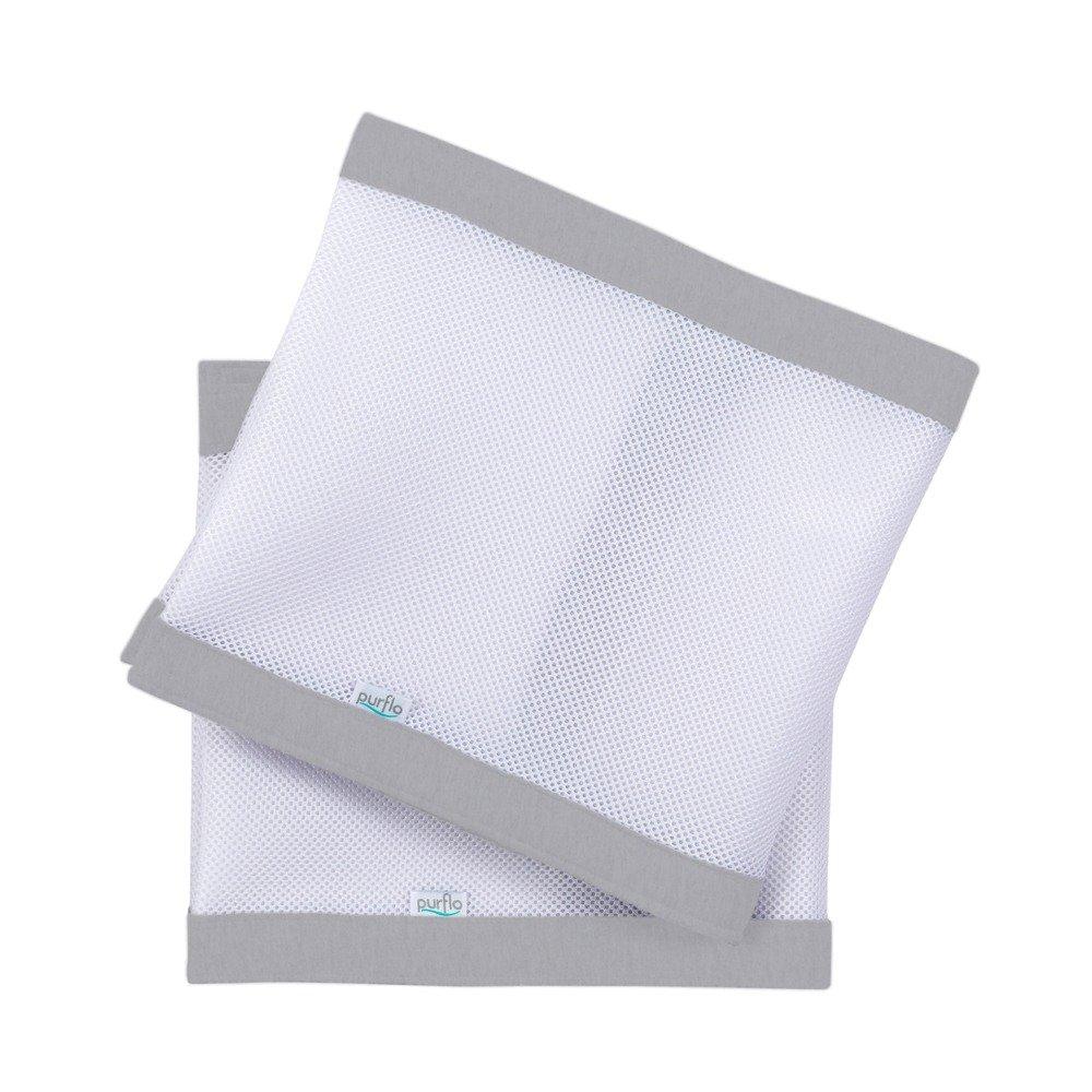 Breathable Cot Bumper - Cloud Grey Folder