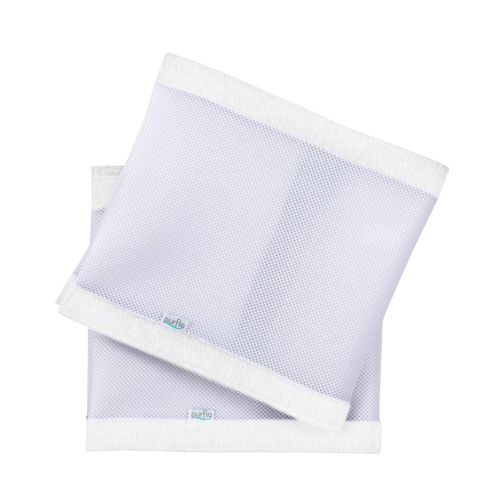 Breathable Cot Bumpers - Soft White Front