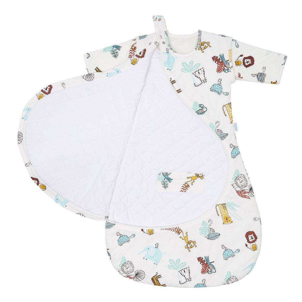Baby Sleep Bag in Garden Zoo Zip Open