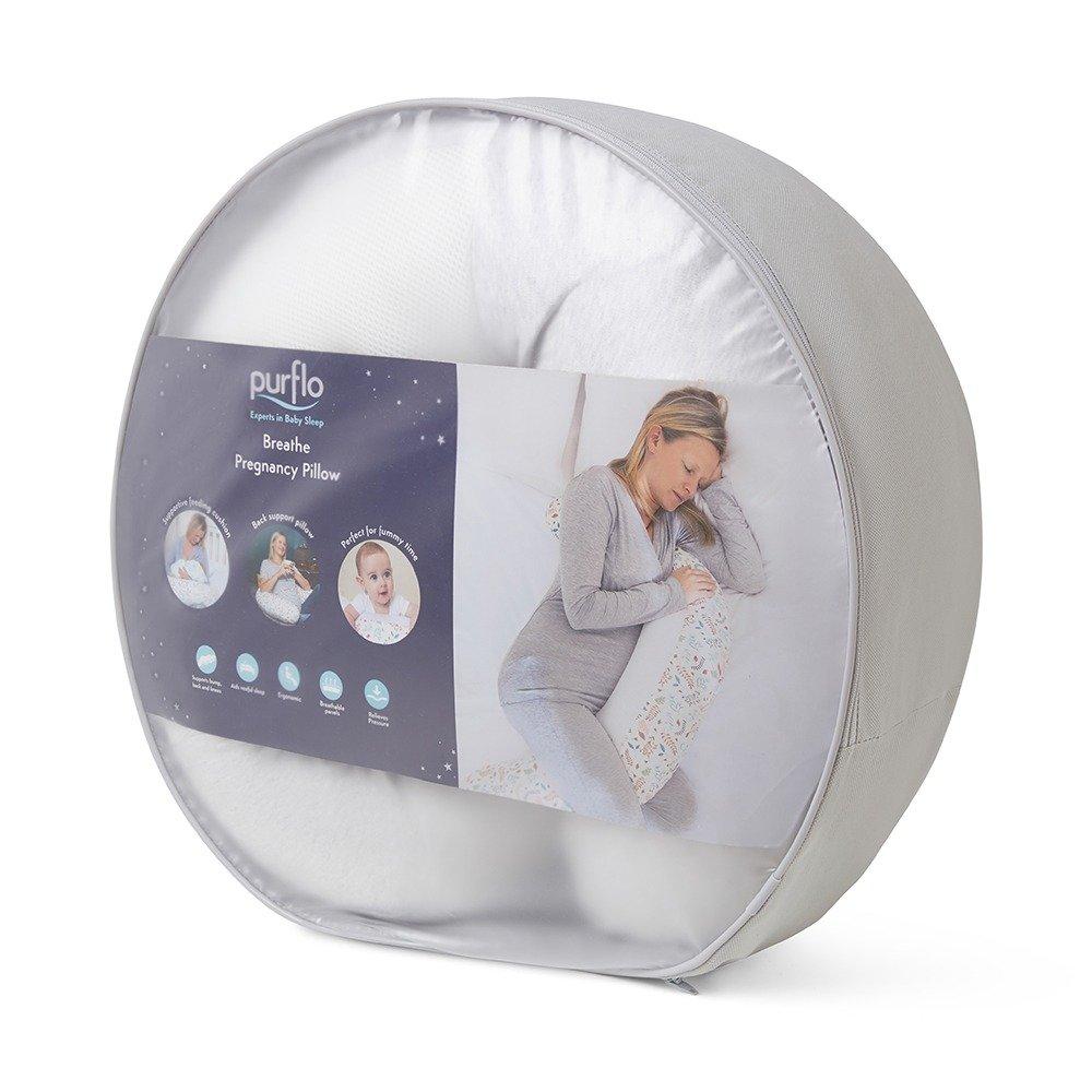 Breathe Pregnancy Pillow Grey - Carry Case