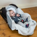 Cosy Wrap Travel Blanket Grey - Car Seat Open