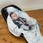 Cosy Wrap Travel Blanket Scandi - Car Seat Open