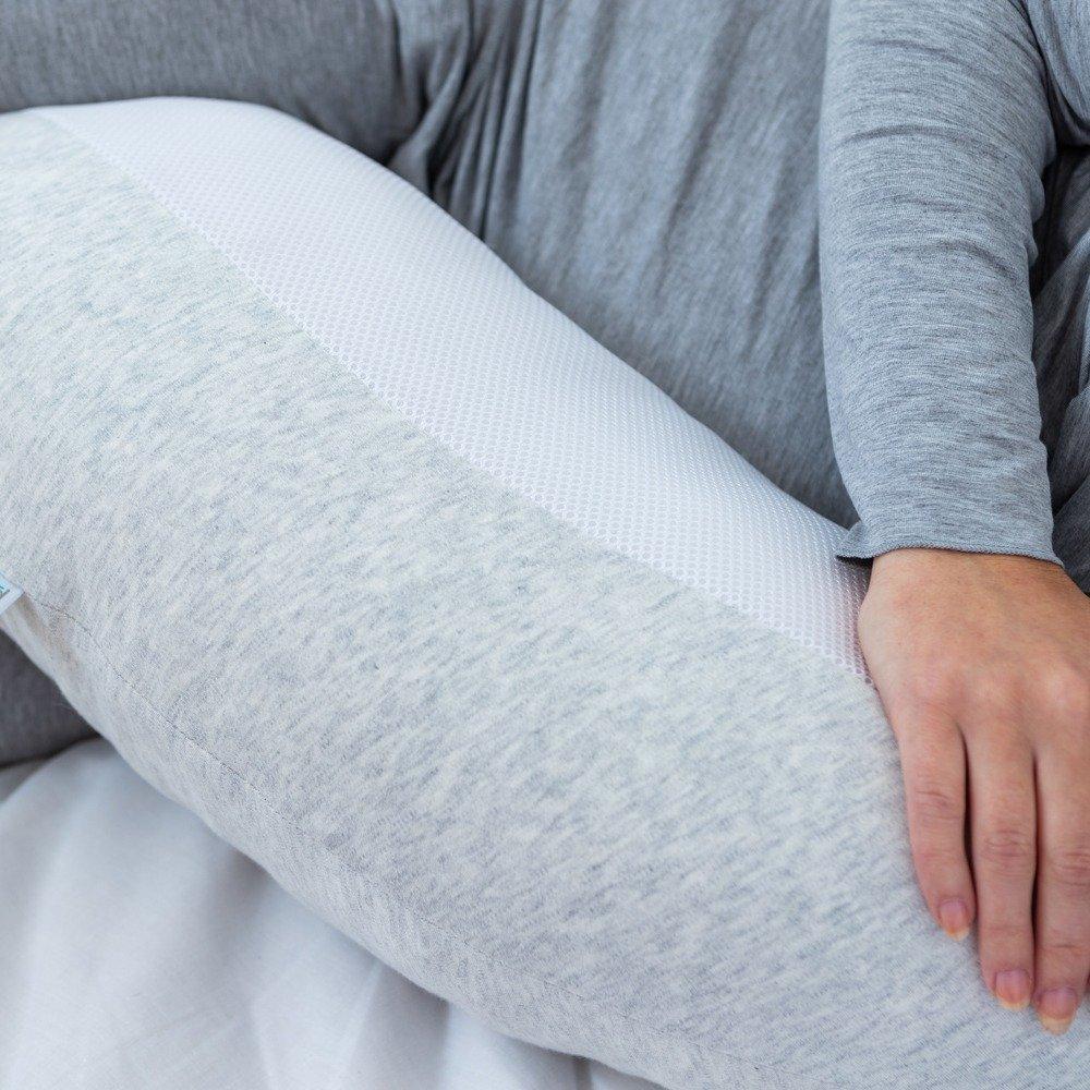 Breathe Pregnancy Pillow Grey - Close Up