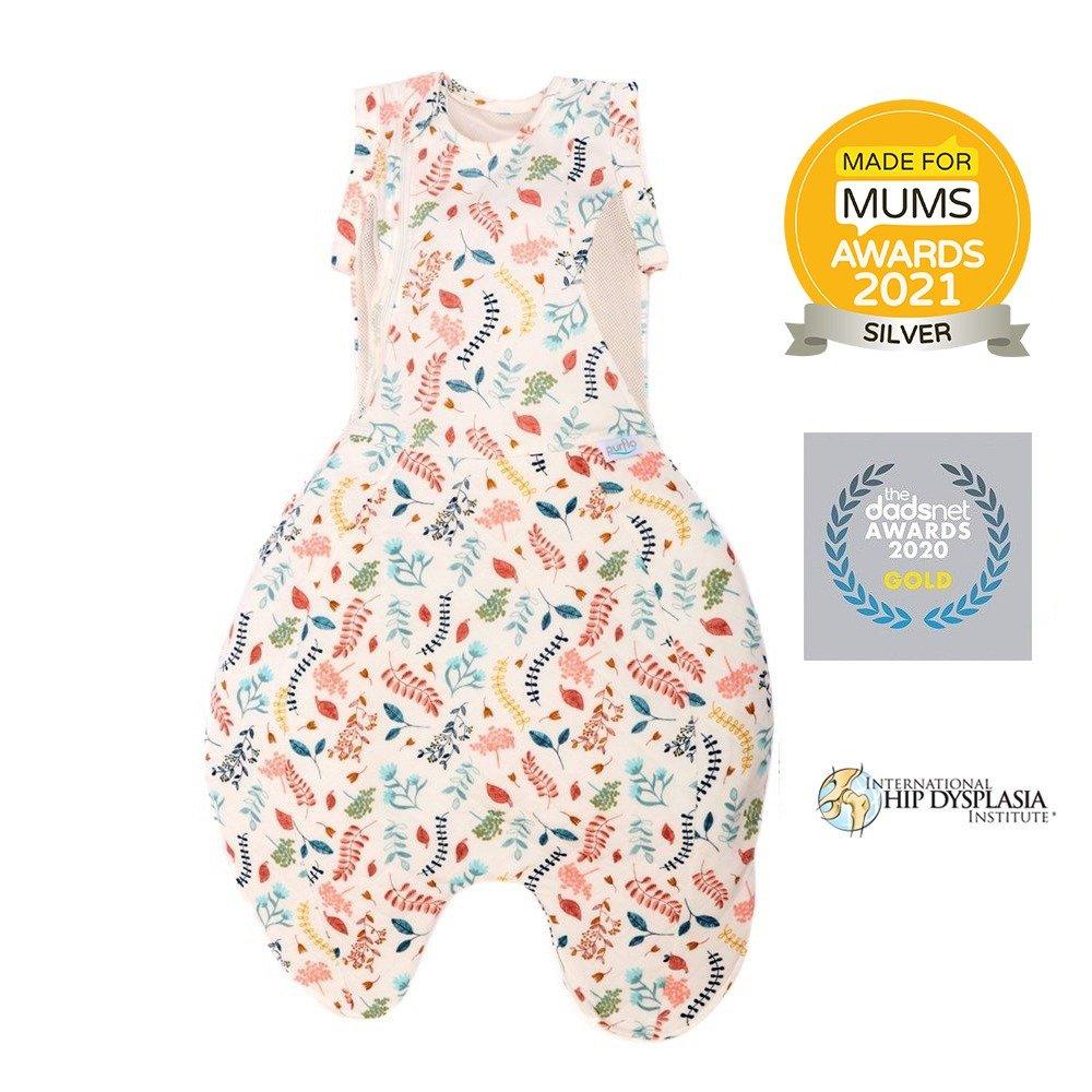 Purflo Swaddle to sleep bag botanical made for mums silver winner