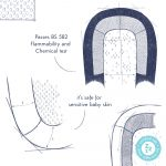 The Sleep Tight Baby Bed passes the BS-582 Flammability and Chemical test whilst remaining soft for baby skin