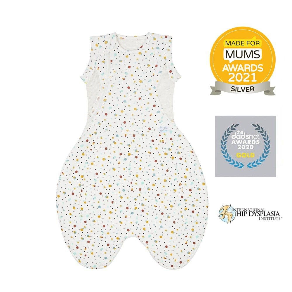 Purflo Swaddle to sleep bag scandi spot made for mums silver winner