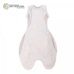 Purflo Swaddle to Sleep Bag Grey can be used up to 4 months old with arms out