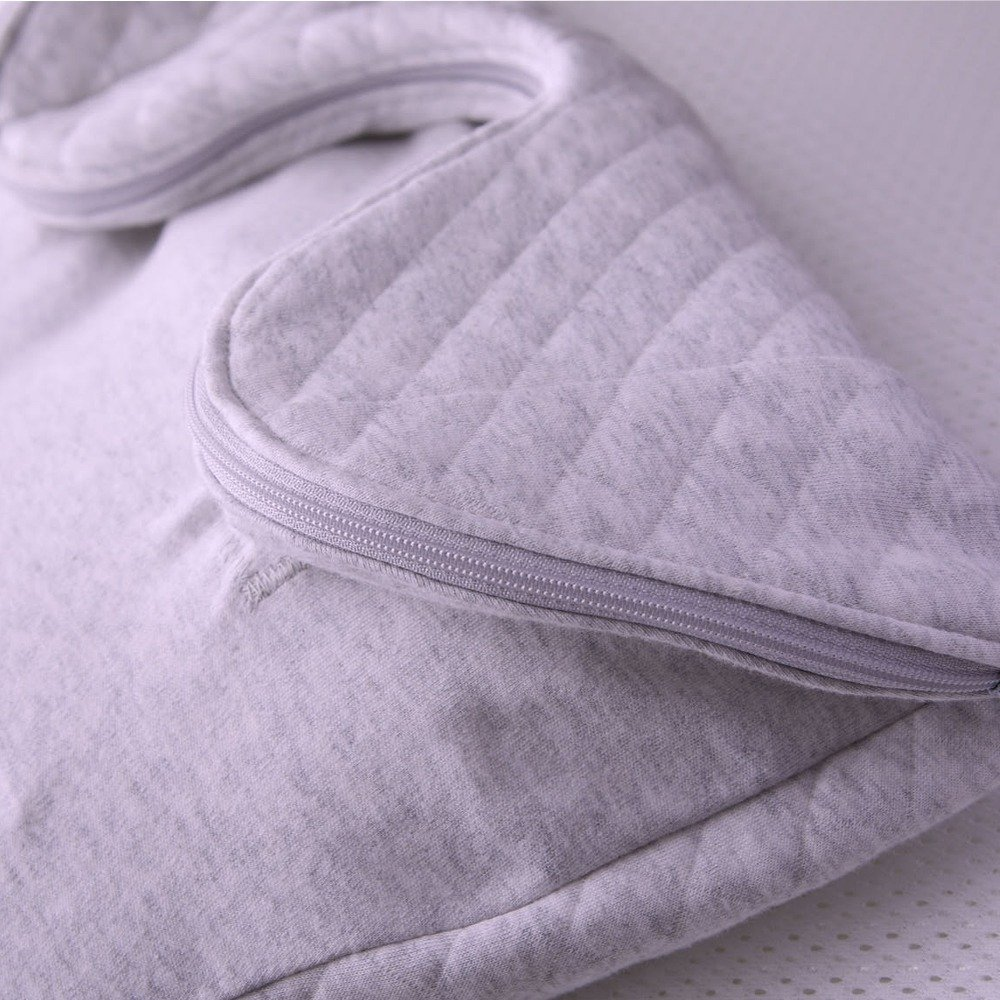 Purflo Swaddle to Sleep Bag Grey extendable length feature to keep little ones feeling secure